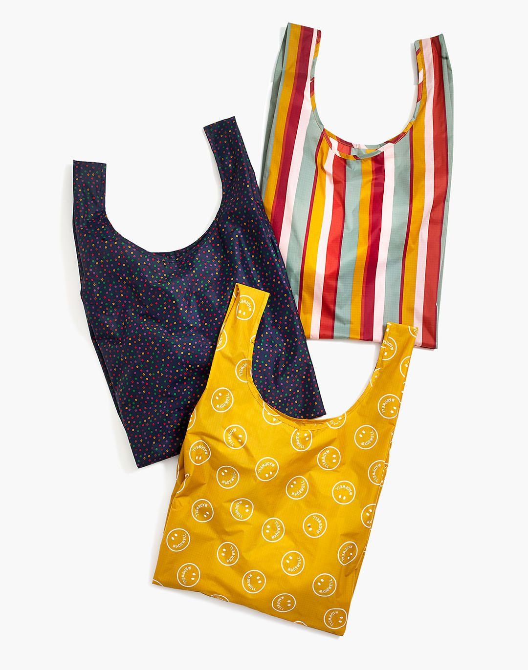 Madewell x Baggu® Three-Pack Reusable Bags