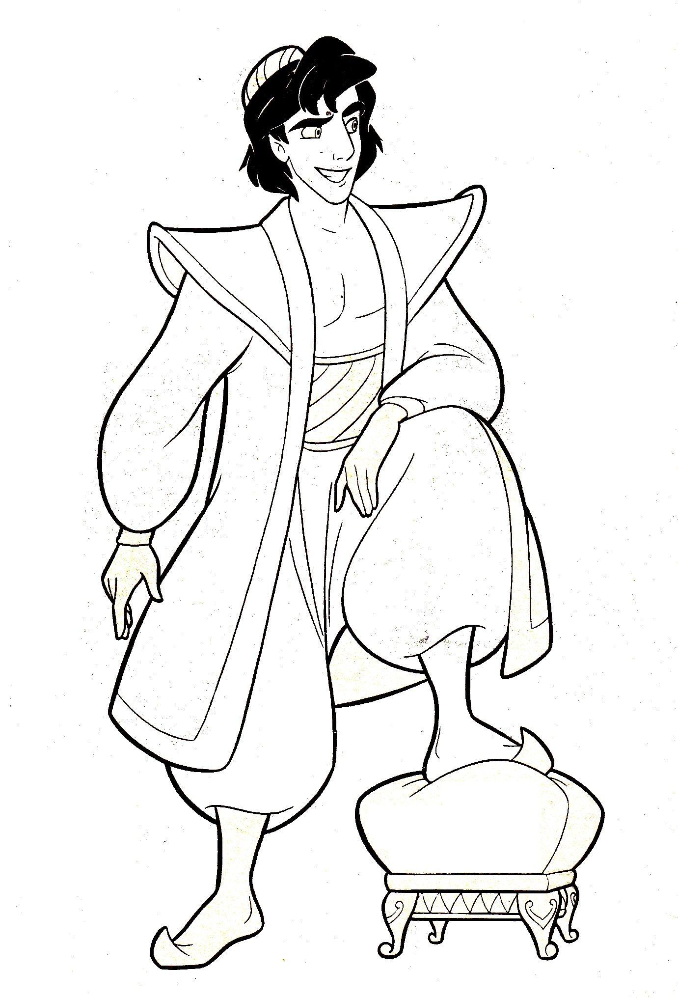 Aladdin Coloring Pages Google Sogning Tegninger