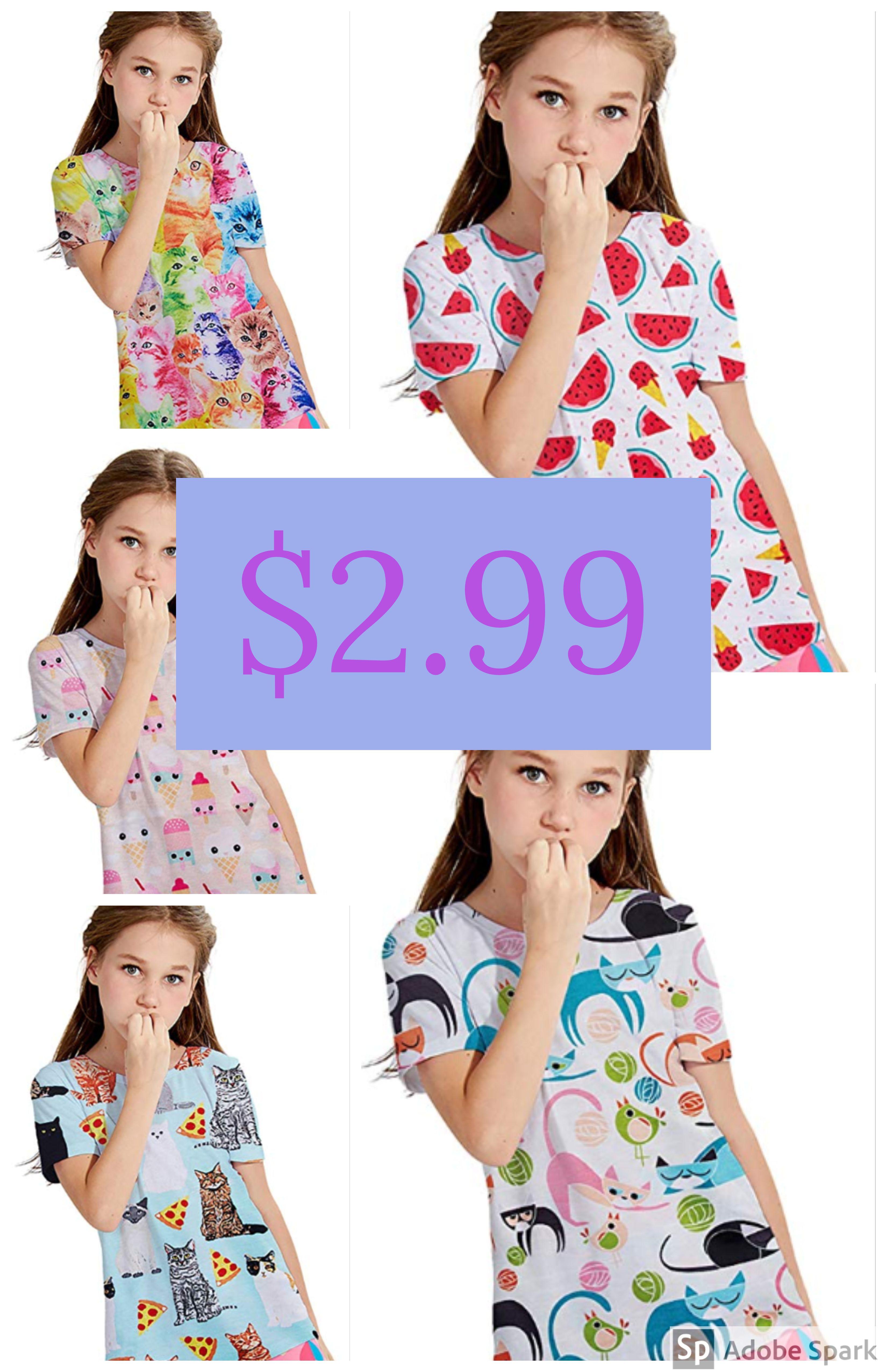 7ad7855cd5ccf Amazon : Baby Girls Cartoon Print Pajamas Top Just $2.99 W/Code (Reg :  $9.99) (As of 8/3/2018 12.02 AM CDT)
