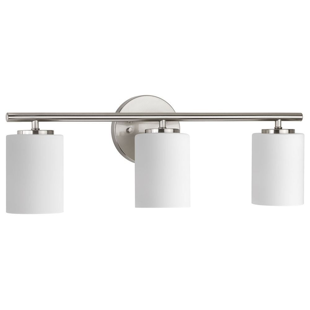 Modern Bathroom Light Brushed Nickel Replay by Progress ...