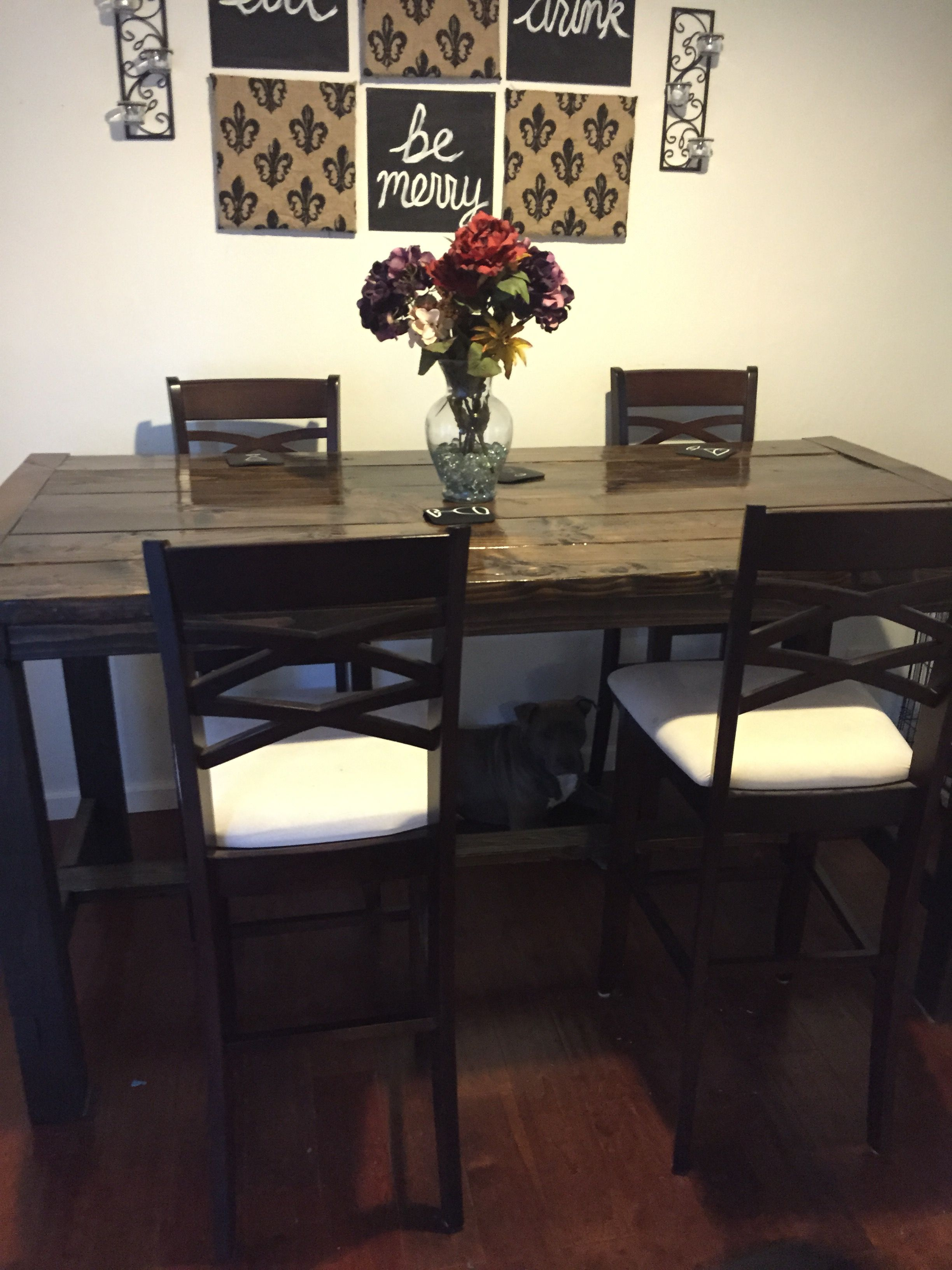 Diy Counter Height Farmhouse Dining Table Diy Farmhouse Table Farmhouse Dining Table Farmhouse Table
