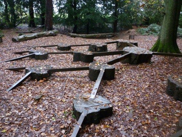 Log balance beams by timrgill, via Flickr