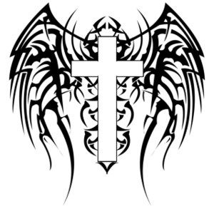 Cross With Wings Clipart Kid