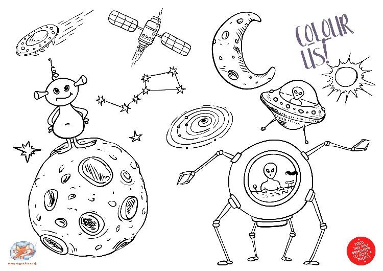 29+ Creative galaxy coloring pages ideas