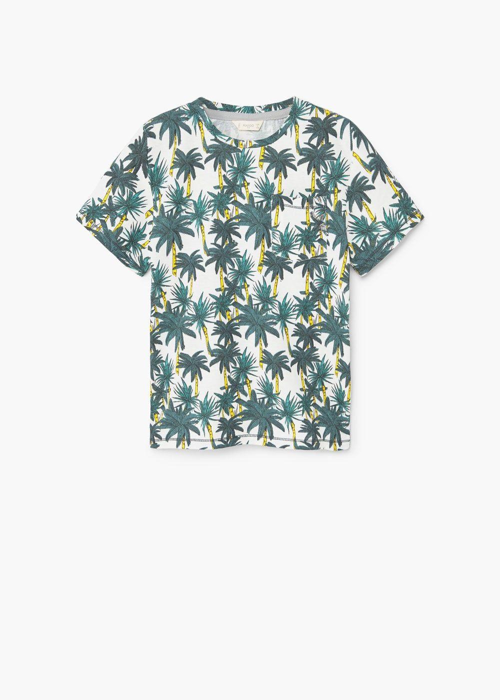 b800cbd9cf Camiseta estampado palmeras - Niño | regalos hugo | Camisetas ...