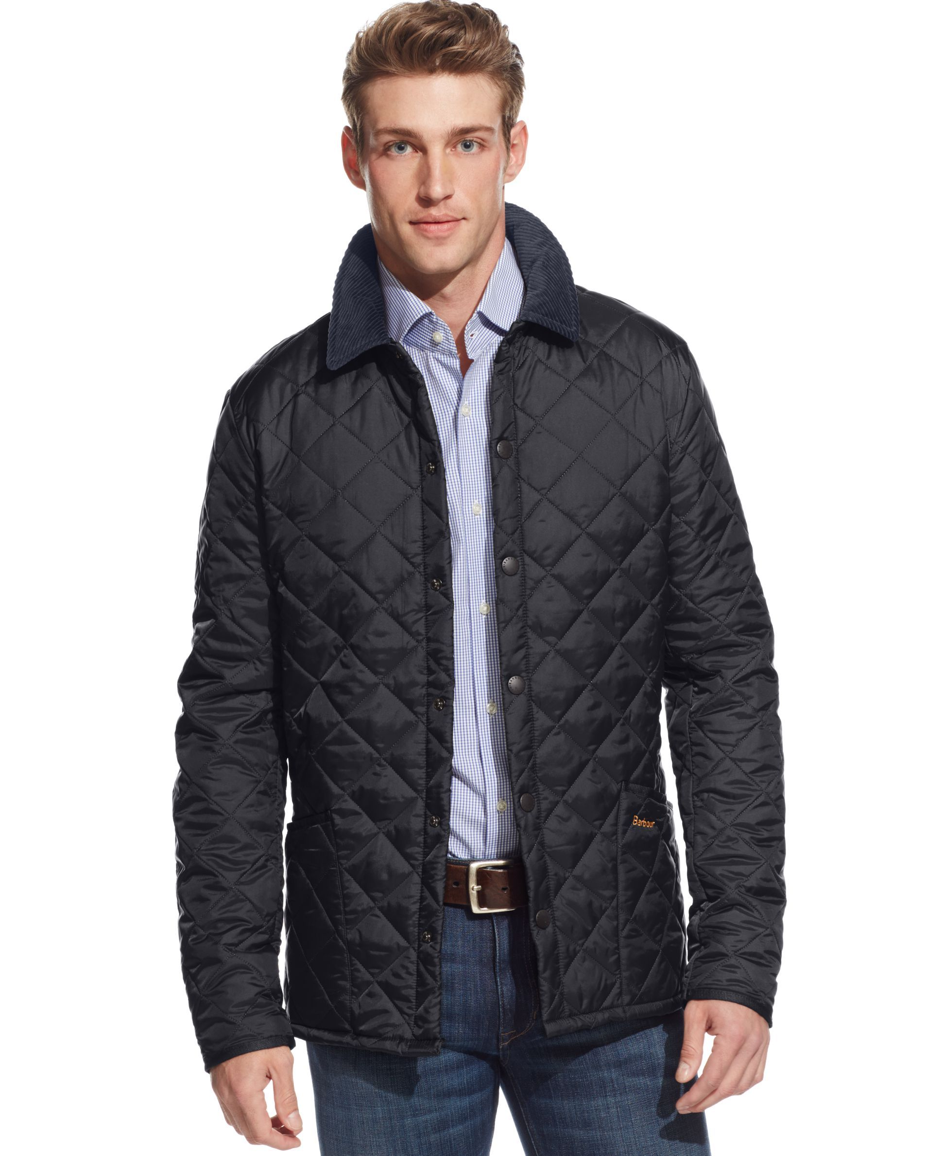 quilted by barbour navy men s in jacket quilt outerwear club liddesdale mens country heritage prep products