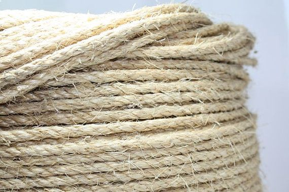 Sisal Rope White Unoiled 1 4 Inch Diameter 1 Yard Use For Wedding Or Home Decor Nautical Beach Or Rustic Themes Sisal Rope Nautical Wedding Inspiration Rustic Theme