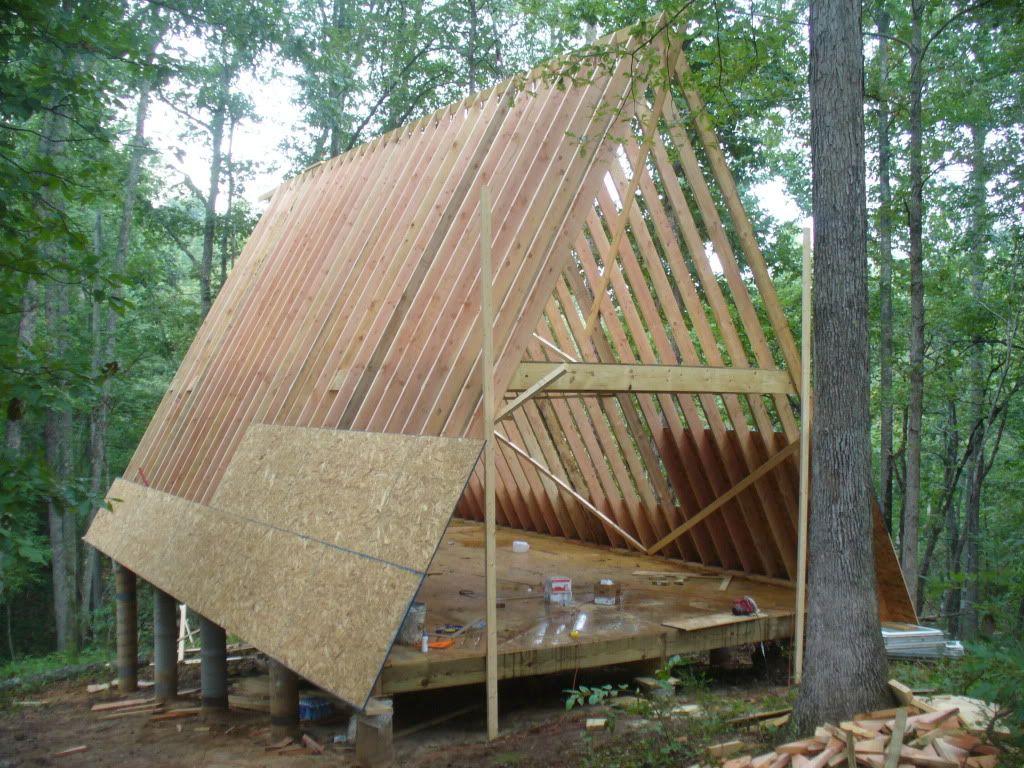 20x32 A Frame Cabin Central Ky Mit Bildern Haus Selber Bauen Dreieckiges Haus Design Fur Zuhause