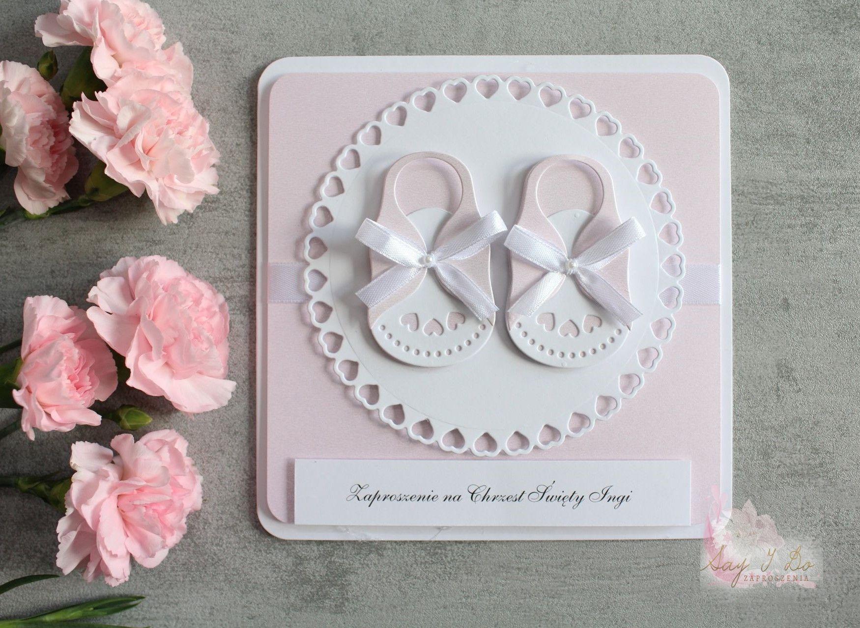Baby Girl Sweet Shoes Zaproszenia Kartki Okolicznosciowe I Kartki