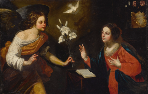 Neapolitan School, 17th Century THE ANNUNCIATION
