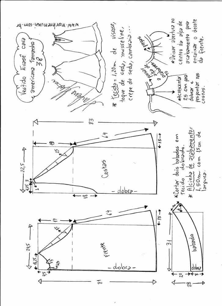 Patrón vestido sisa americana con escote en espalda | free ebook ...