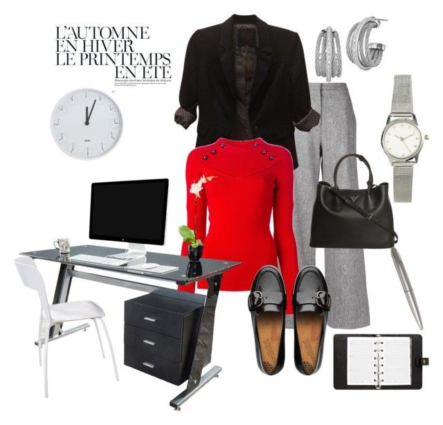 """""""Ready for work"""" by modern-glam-designs on Polyvore featuring Été Swim, ADAM, The Limited, Isabel Marant, FitFlop, Prada, Charriol, H&M, Mulberry and Natico"""