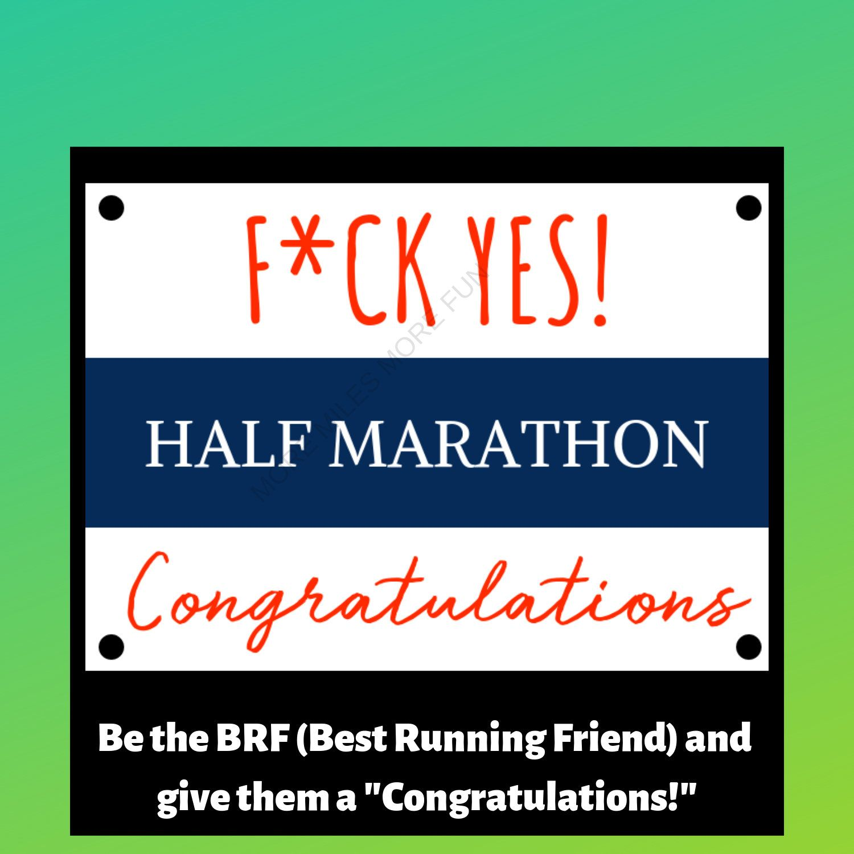 Half marathon congratulations greeting card