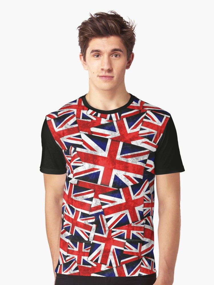 3e0fa6a8 Union Jack British England UK Flag Graphic T-Shirts by Gravityx9 Designs at  Redbubble -- British Union Jack (UK Great Britain) Country Flag: Layers, ...