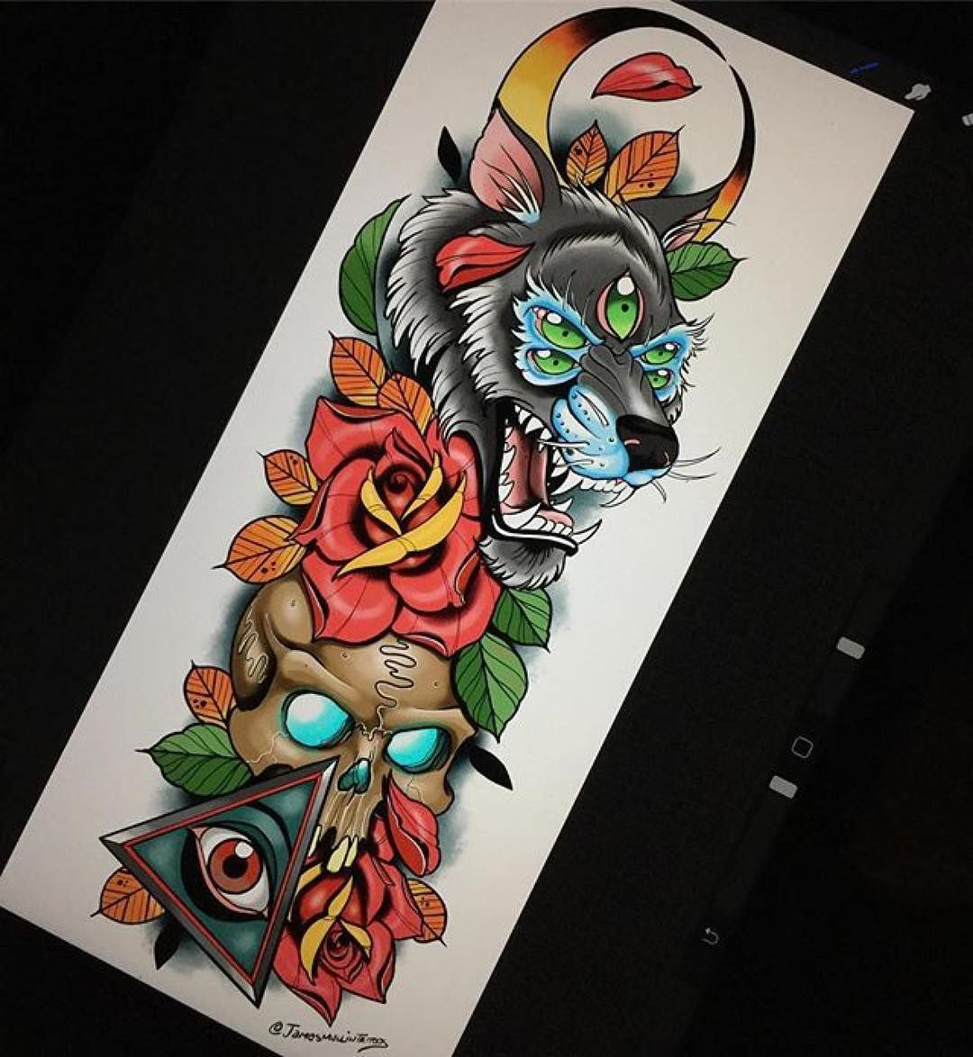 Beautiful Color Sketches For Your Tattoos Beattattoo Com Ink People Sketches Tattoo Inked Women Design Sleeve Tattoo Sak Yant Magic Tattoo Colored Tattoo Design Traditional Tattoo Art Traditional Tattoo Sleeve