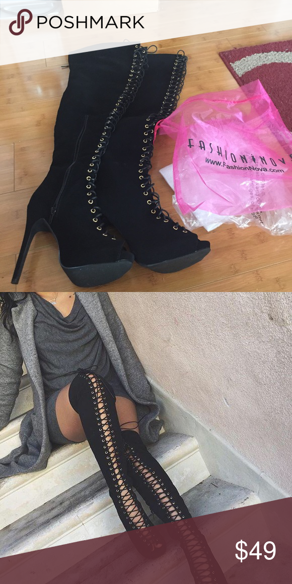 New Lexie boots I ordered from Fashionnova   Pinterest   Knee boot     New Lexie boots I ordered from Fashionnova  Brand new size 7 1 2 Lexi boots  from Fashionova  Never worn  I bought them for  75 before shipping but I  will