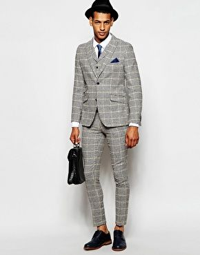 Feraud Premium 80% Wool Suit in Dogtooth Check