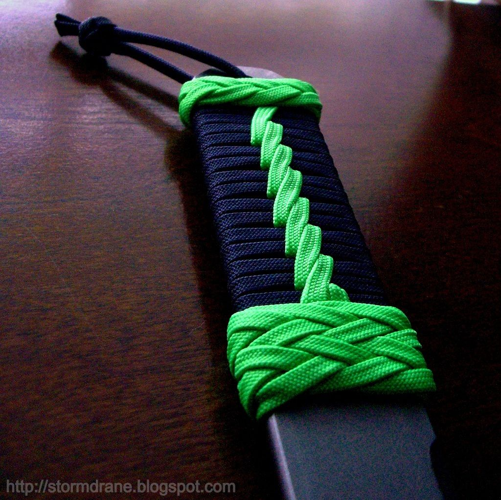 Parachute Cord Knife Handle Wrapping: Pass The Bar With Some Light Prying...