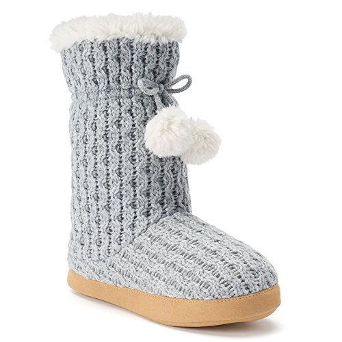 6b9f9bd0190 Tejido En Cable · Productos · Isotoner Cable Knit Sweater Womens Bootie  Slippers >>> To view further for this item