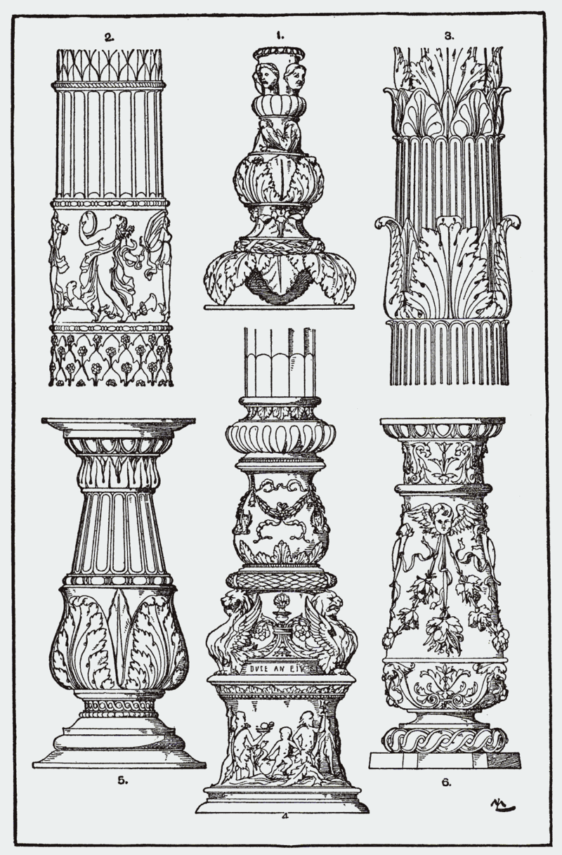 Orna136 Kandelaberschaefte Png Pillar Design Architecture Drawing Architecture Sketch