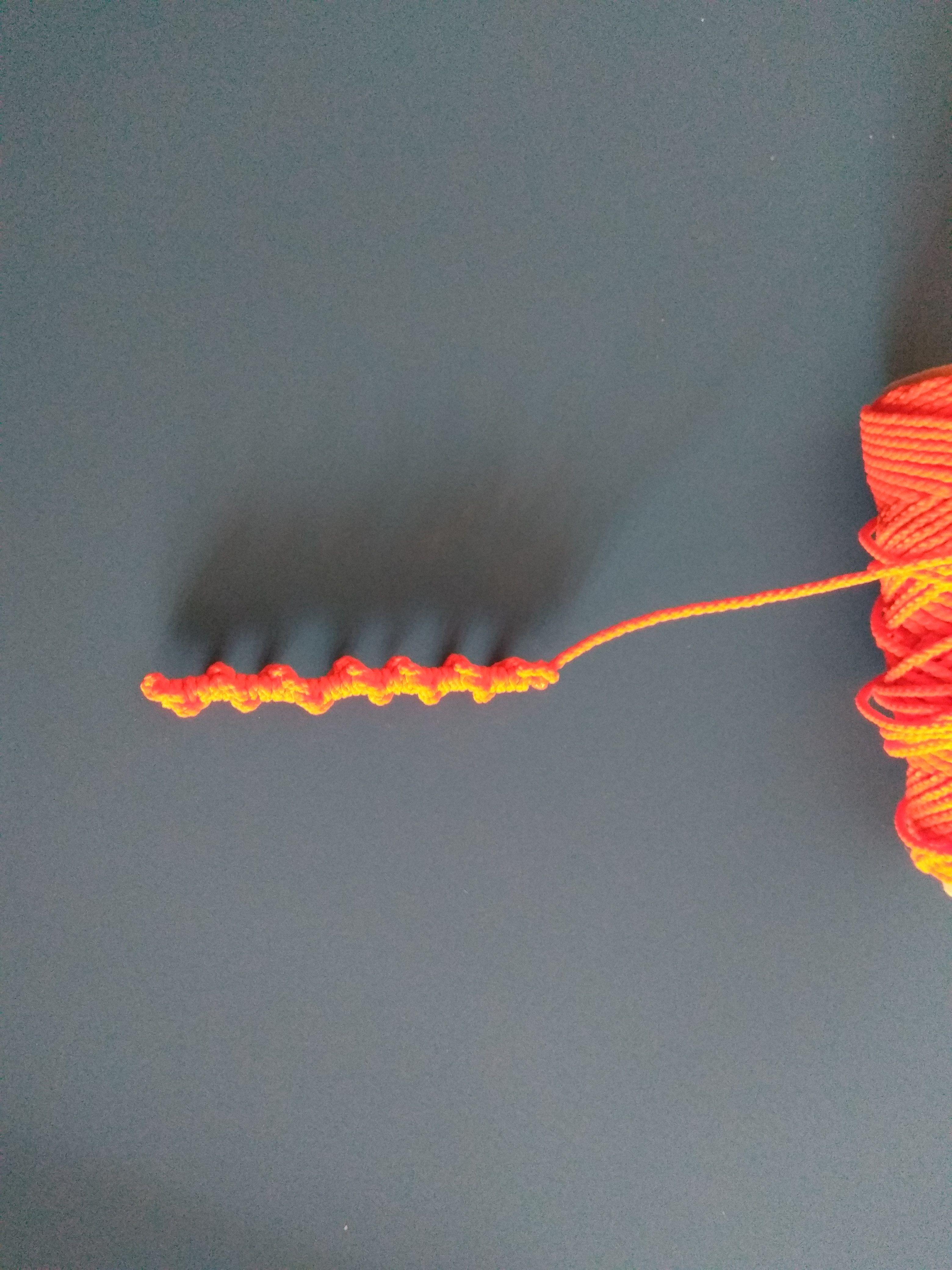 Nudo decorativo para final de cuerda