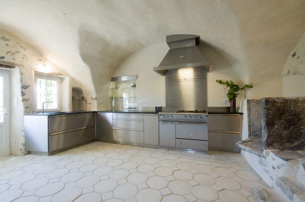 Cuisine En Inox Plan De Travail En Granit NoirPiano De Cuisson - Cuisine avec piano