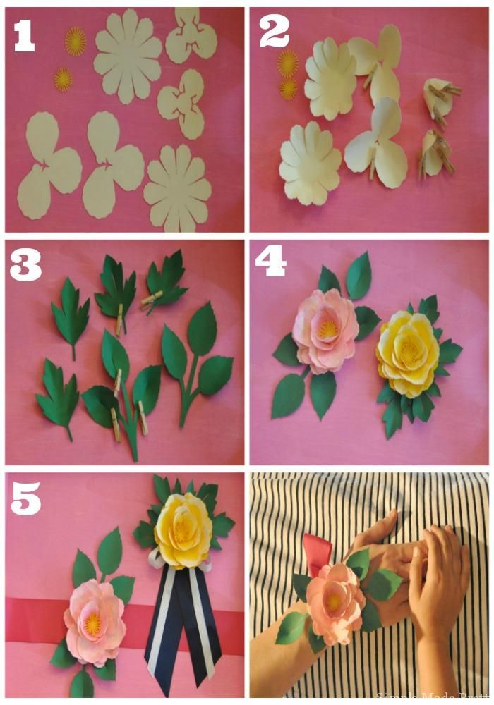 Handmade Mothers Day Paper Flower Corsage In 5 Easy Steps