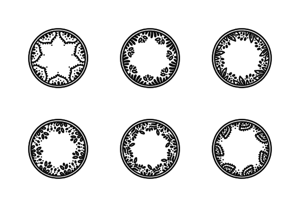 Hand Drawn Circle Wreaths Icons By Lenna Erespe How To Draw Hands Hand Drawn Icons Draw