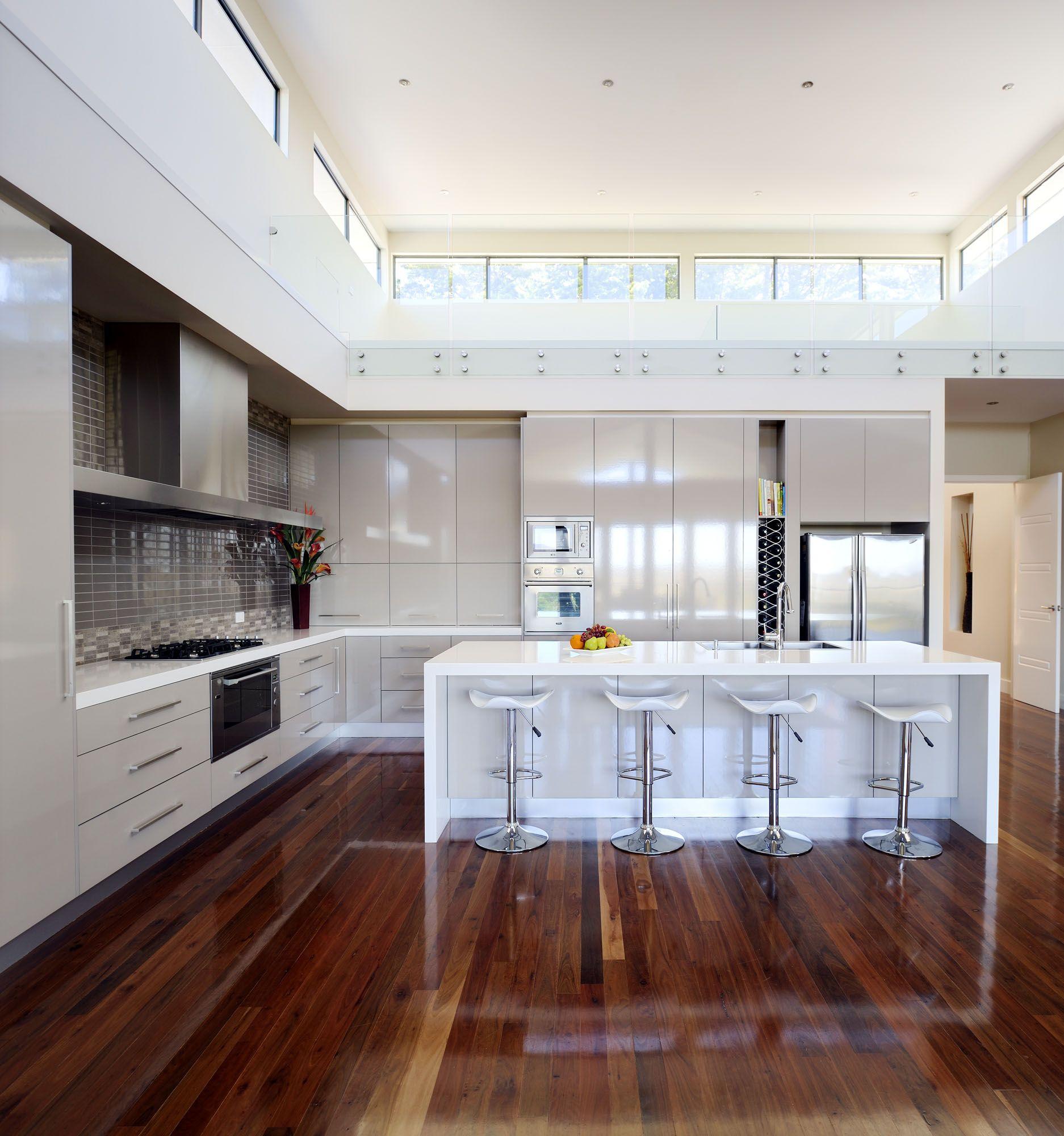 Urban Kitchens Australia in Caesarstone 2141 Snow Sleek