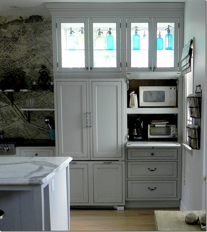 I Like These Cabinet Door Pantry Etc Colors For The: High Windows Behind The Cabinets Let Light In. LOVE How