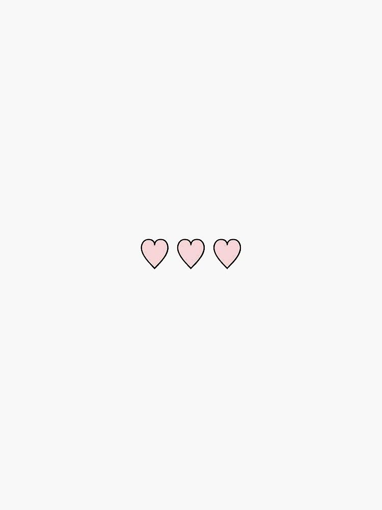 Three Little Pink Hearts Sticker By Stickersnstuff Cute Wallpaper For Phone Aesthetic Iphone Wallpaper Wallpaper Iphone Cute