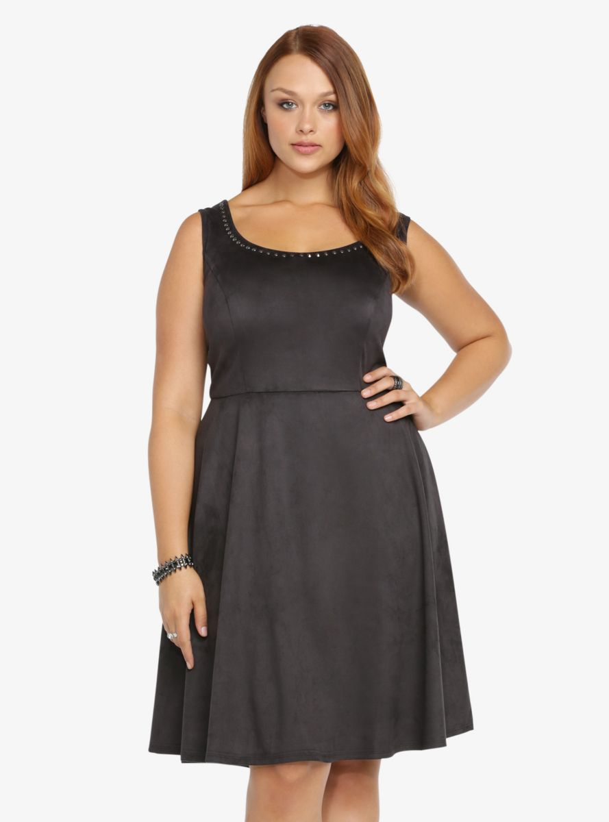 Faux Suede Studded Dress From The Plus Size Fashion Community At Www