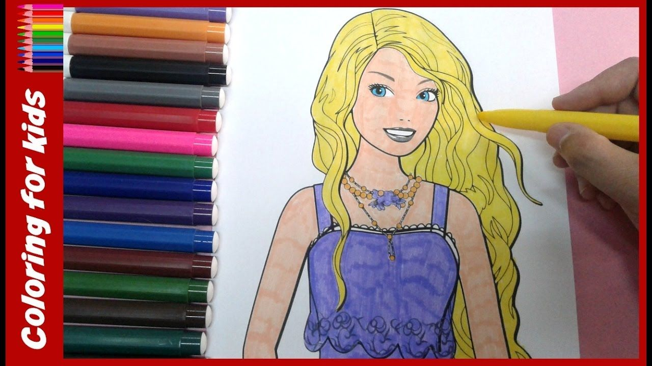 coloring pages for girls : How to color barbie coloring pages ...