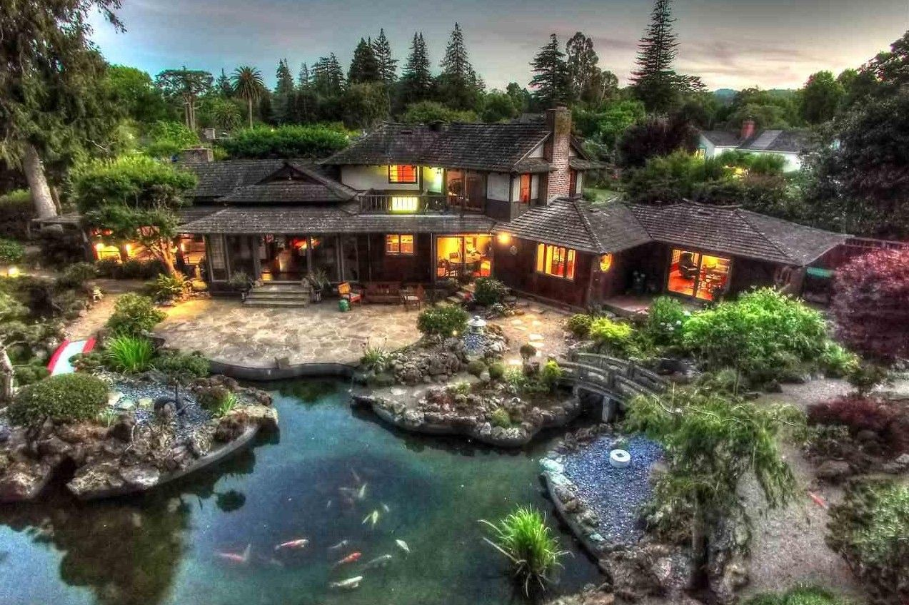 Historic japanese inspired estate for sale in san mateo for Japanese house garden