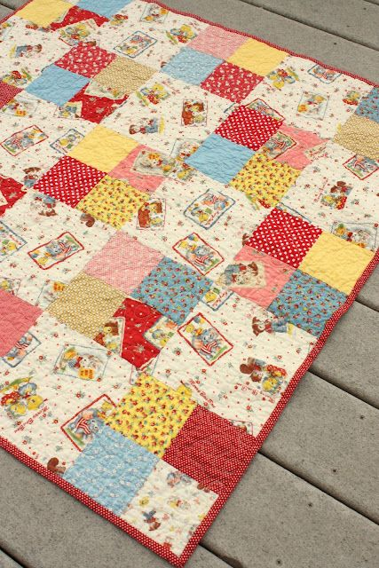 Simple Four Patch Baby Quilt Quilts Pinterest Baby Quilts