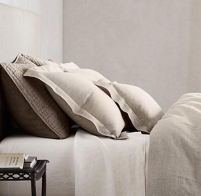 Vintage Washed Belgian Linen Bedding Collection Casas