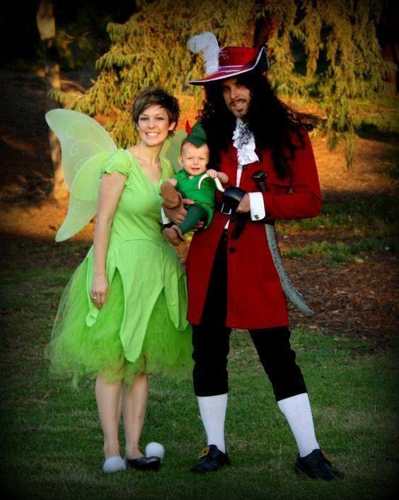 49cec68c0 Tinkerbell, Peter Pan & Captain Hook (F&F Costume) #PeterPan ...
