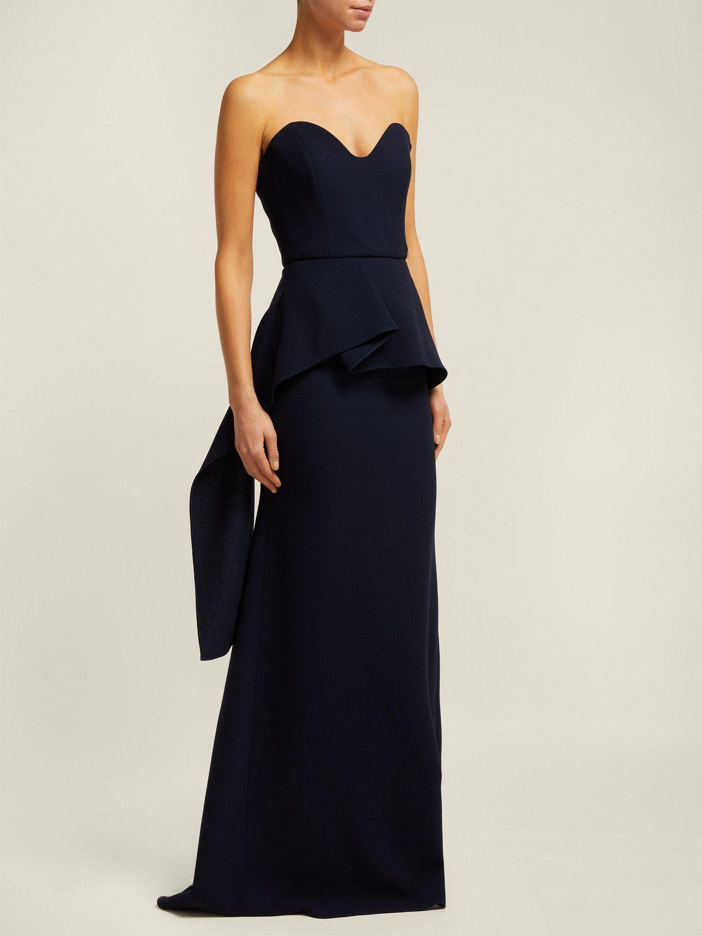 23d6cd865267 Bond strapless wool-crepe gown | Roland Mouret | MATCHESFASHION.COM ...