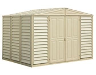 Duramax Duramax 10x13 Woodbridge With Foundation Vinyl Sheds Vinyl Storage Sheds Wood Bridge