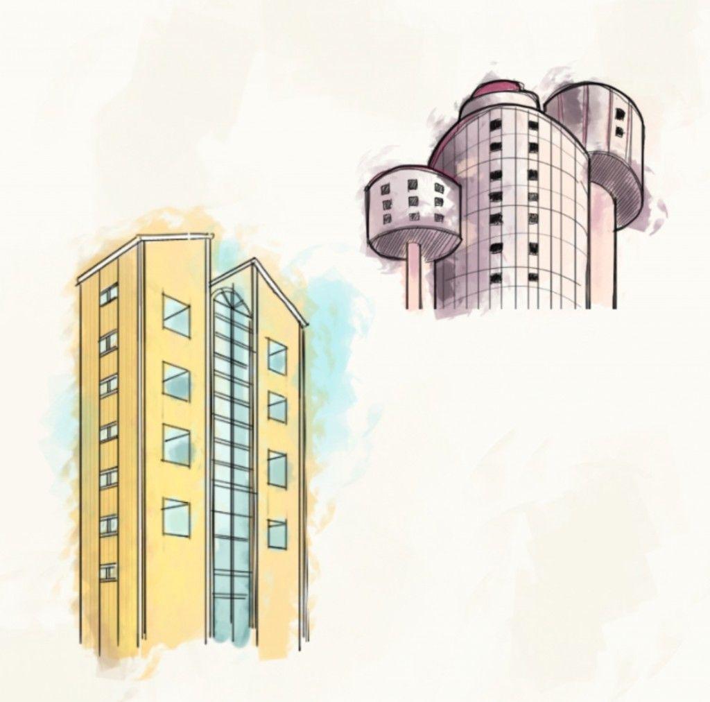 Postmodern Architecture Sketch Sketch Book Architecture Sketch Street Scenes