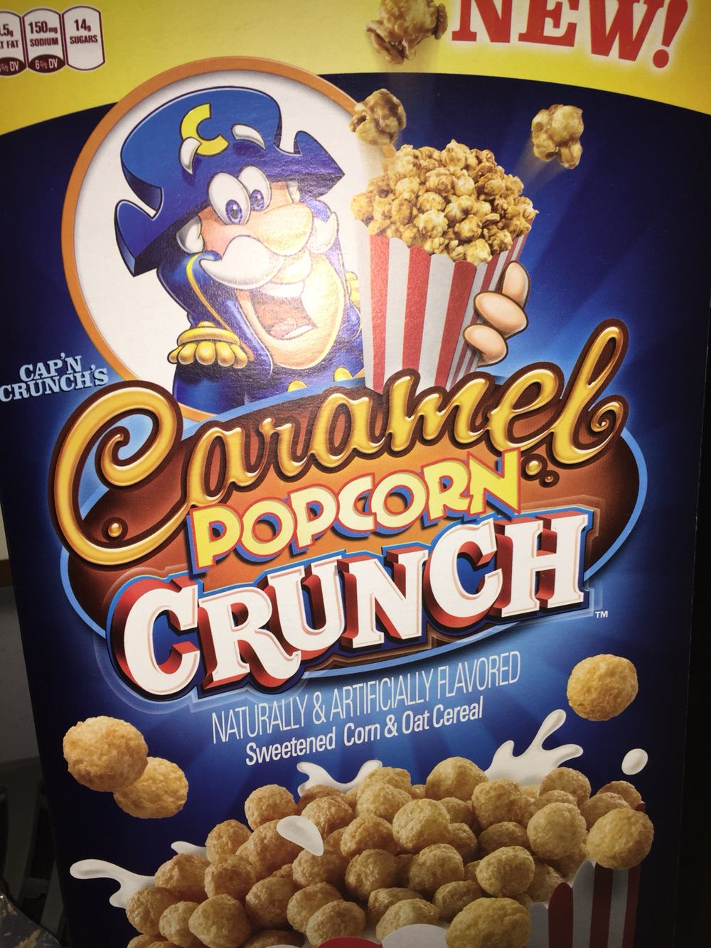 quaker oats capn crunchs caramel popcorn crunch sweetened corn and oats cereal - Captain Crunch Halloween