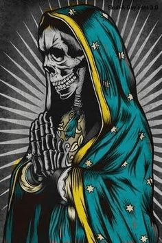 RELIGIOSIDAD POPULAR LA SANTA MUERTE  Skulls Pinterest Santa Muerte And Tattoo