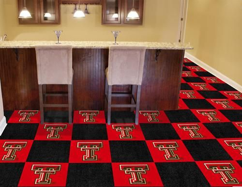 Texas Tech Red Raiders Carpet Tiles For the safe room!! :)