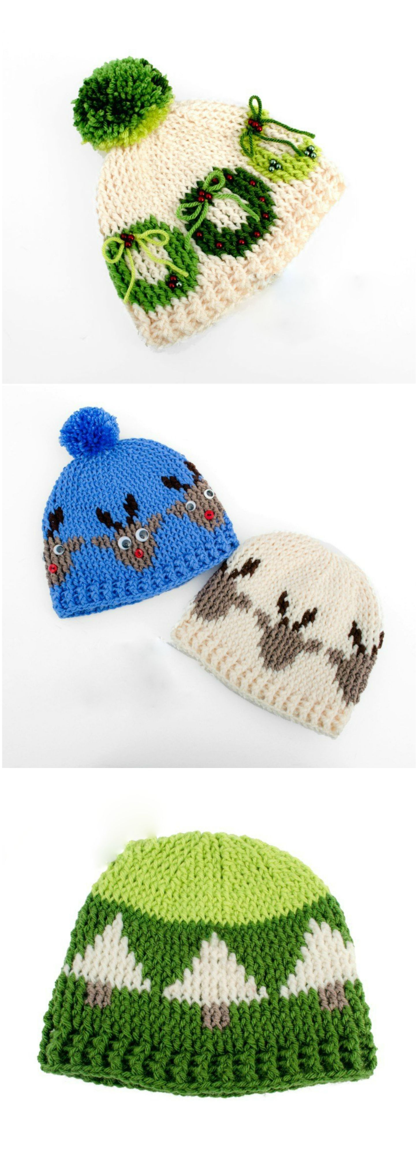 Graphic Christmas Hats – Craft Ideas | Gorros | Bufandas, Gorras y ...