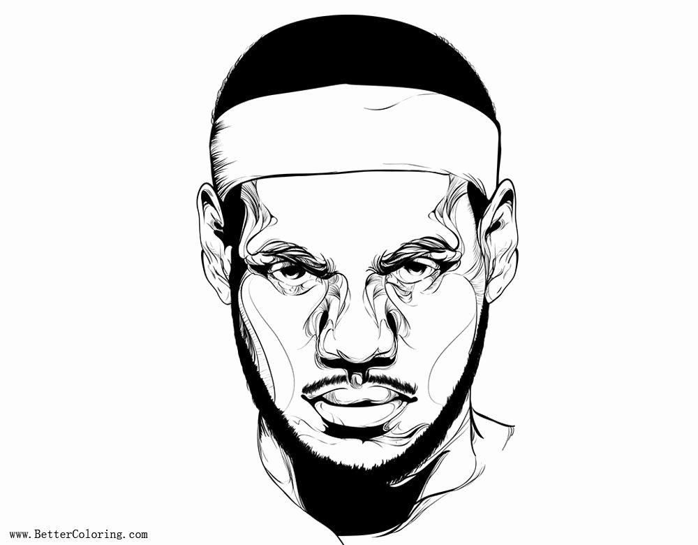 Lebron James Coloring Page Inspirational Lebron James Coloring Pages The King Free Printable Colori In 2020 Shark Coloring Pages Baseball Coloring Pages Coloring Pages