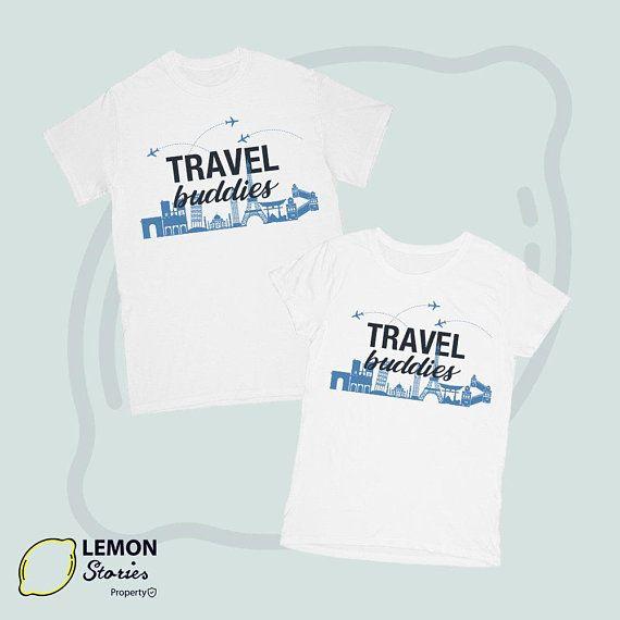 facd945f3a6 Travel Buddies Couple T Shirt