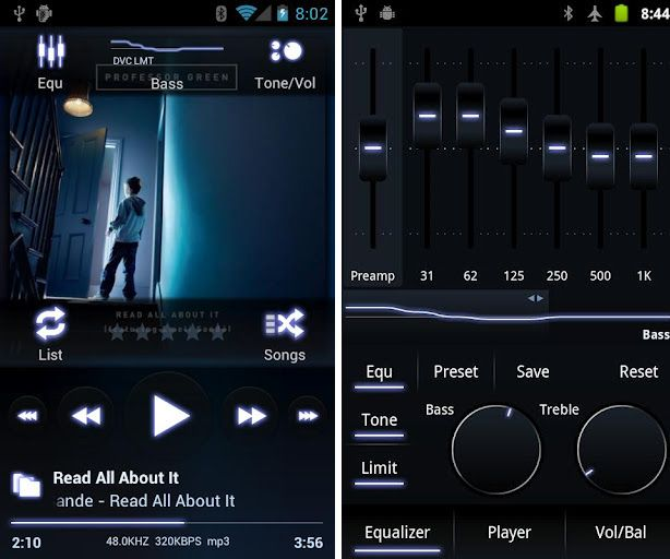 best free mp3 player for android with equalizer