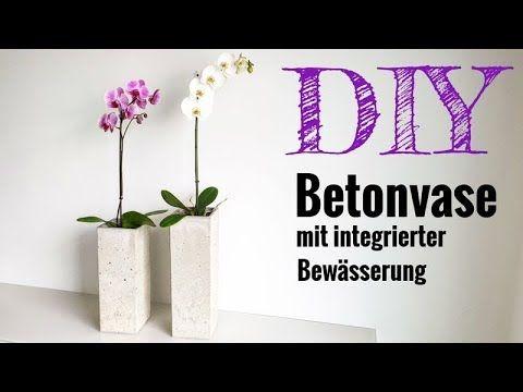 Eine Blumenvase mit integrierter Bewässerung selber bauen / DIY concrete...