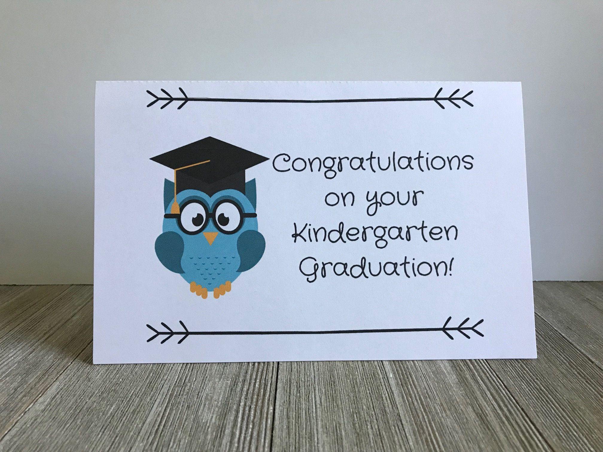 Cute Kindergarten Graduation Card Graduate Humorous Card Owl Card For Kindergarten Nurse Graduation Cards Handmade Graduation Cards Kindergarten Graduation