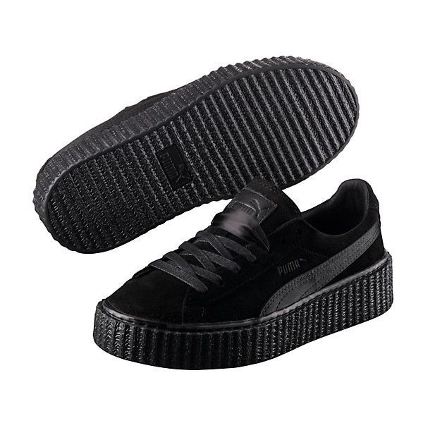 Puma PUMA BY RIHANNA MEN'S BLACK SATIN CREEPER ($140